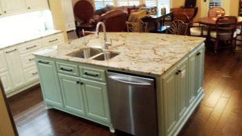 Kitchen Island Installation - Marble Countertop