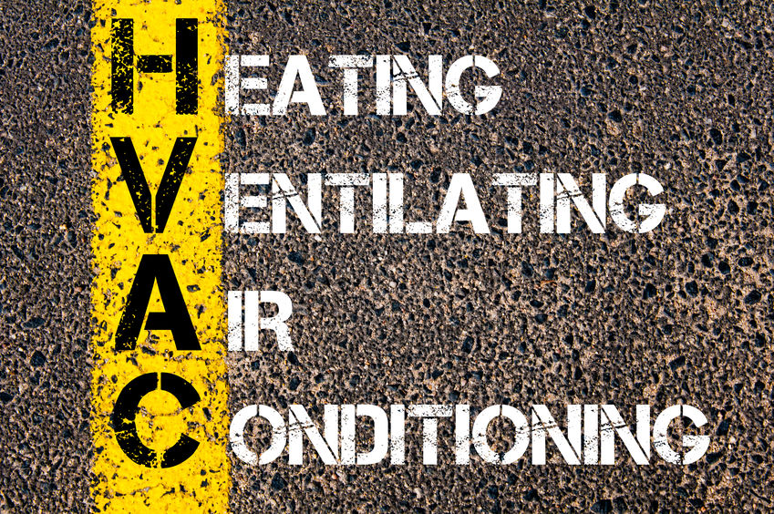 Business Acronym HVAC as Heating Ventilating Air Conditioning