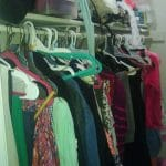 cluttered closet rods
